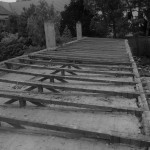 Postupné rozebrání střešní konstrukce