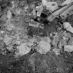 Výkopové práce - hydraulické kladivo