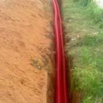 Pokládka kabelů a korugovaných trubek